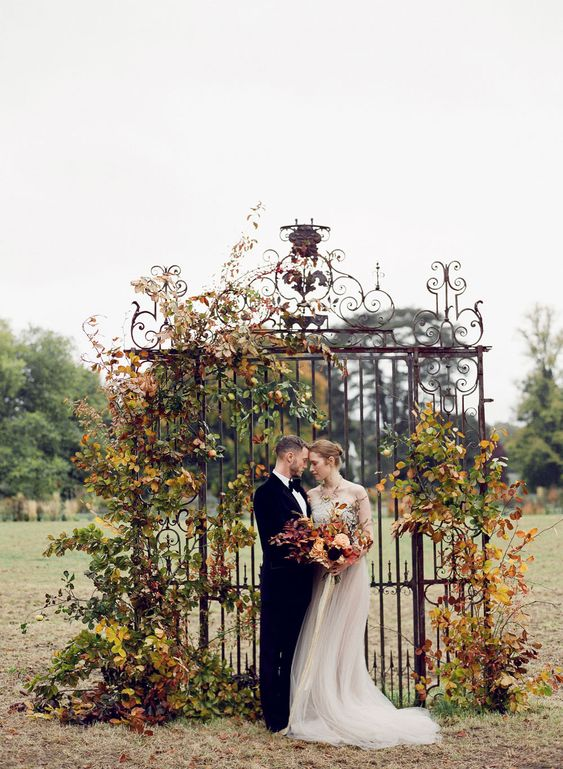 OLD WORLD ELEGANCE--autumn wedding  Taylor & Porter Fine Art Film Photography St. Giles House Bride & Groom