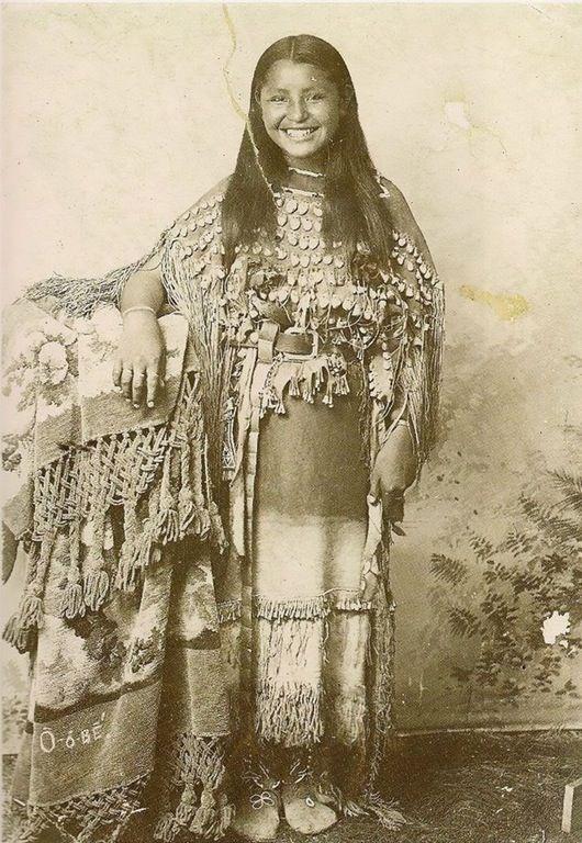 Rare 19th Century photograph of Native American girl SMILING on camera! : pics
