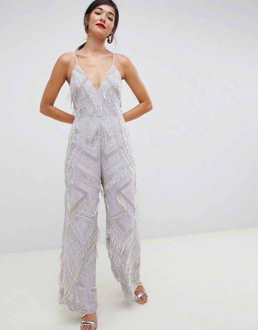 Off-White Pearls Embellished Jumpsuit