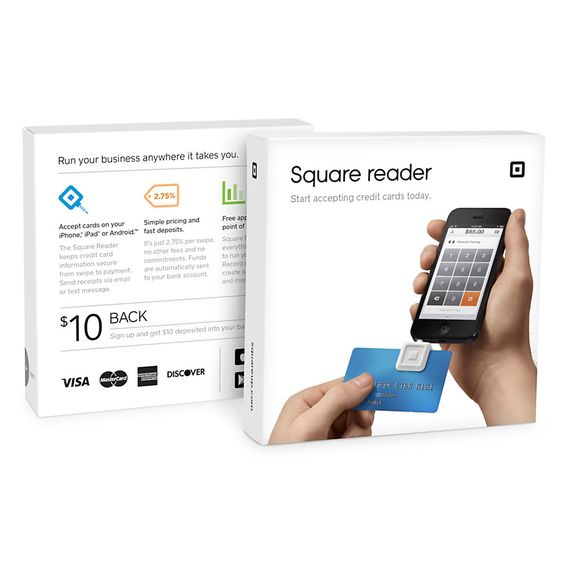 """Even though I sell mainly online, there are opportunities during certain times of the year where you can set up at flea markets or marketplace events inside of certain malls. If your customers aren't carrying any cash, instead of the risk of taking a check (which I never do), bring your tablet along and buy one of these for it. Square Credit Card Reader, 4 1/2"""" x 4 1/2"""" x 1"""", White"""