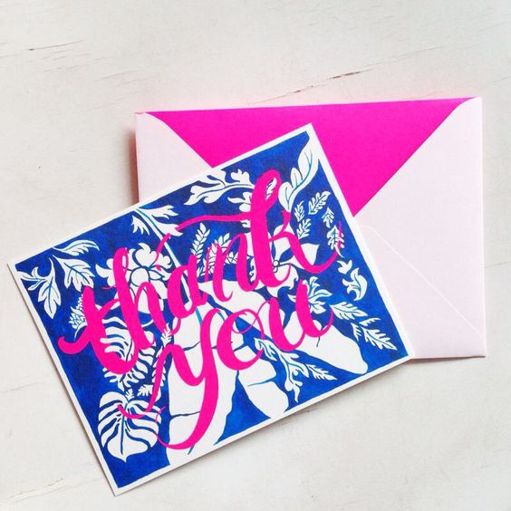 Stylish way to say 'Thank You' #luxe #stationery #thankyou #flatnotes #kalapatagifts
