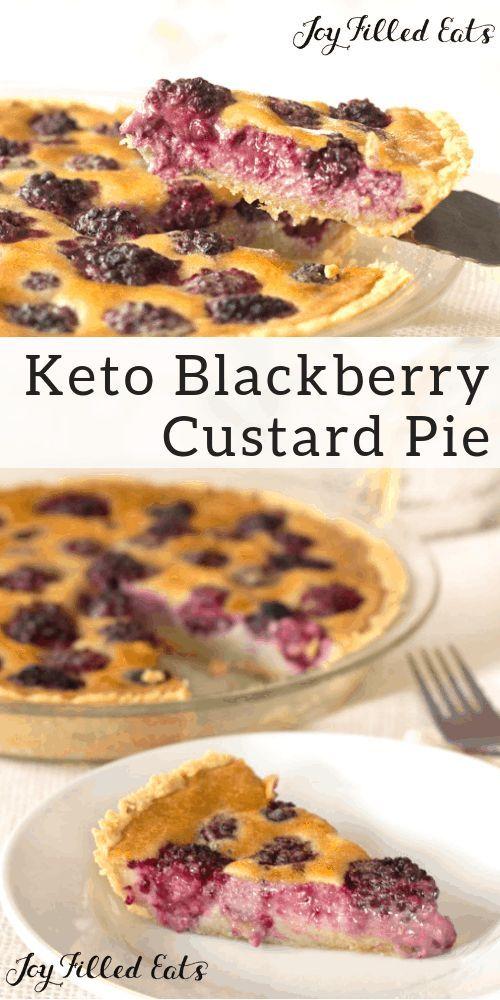 Custard Pie With Blackberries Easy Keto Low Carb Thm S Gluten