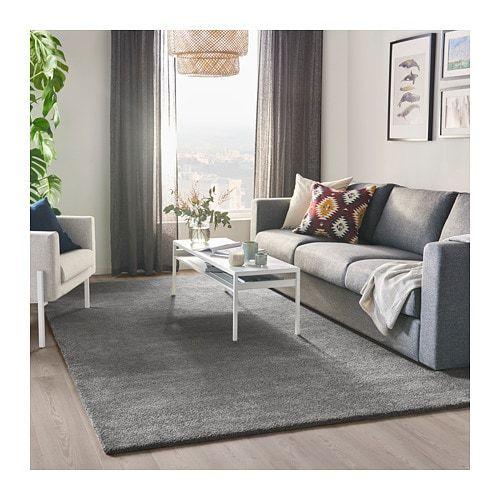 Stoense Rug Low Pile Medium Grey 170x240 Cm Ikea Rug Flatwoven Ikea