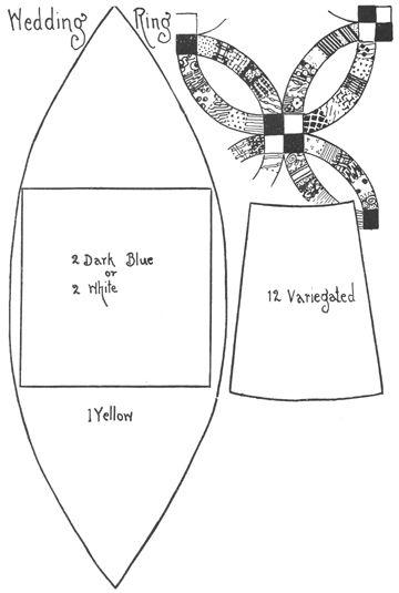 wedding ring quilt templates patrones