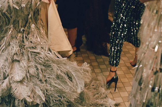 "thephashionkilla: "" Inside the Met Gala: Ladie's room edition "":"