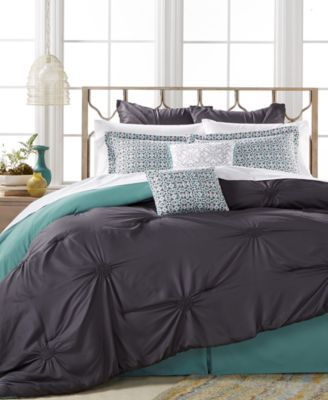 Sutton Charcoal 8-Pc. California King Comforter Set $129.99 The Sutton Charcoal California king comforter set features bold mint accents for a look that instantly freshens up your bedroom.