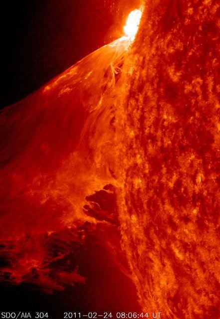 Giant solar flare