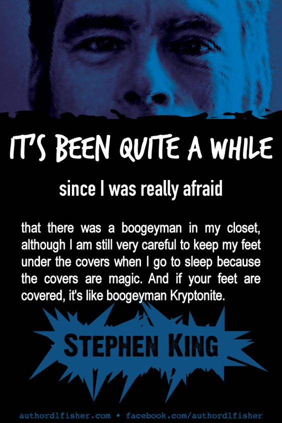 LOL! From the King of horror. #StephenKing #WritingInspiration #author_quote #writing #scary #funny