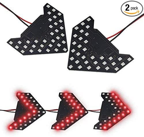 2x Arrow Panel 14 Smd Led For Car Side Mirror Turn Signal Indicator Light Red Side Mirror Car Car Rear View Mirror Rear View Mirror