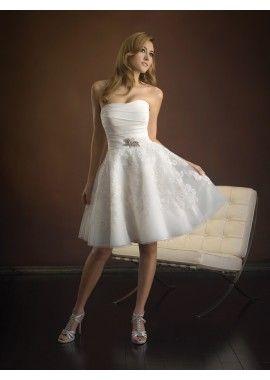 Elegant Lace Wedding Dress Tea Length Cocktail Style
