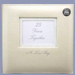 Wedding anniversary gifts:25 Years Together Love Story Photo Album - 25th Anniversary Gift