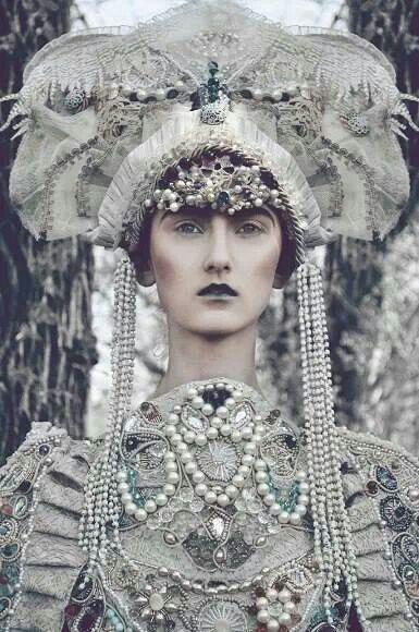 Blanc et perles