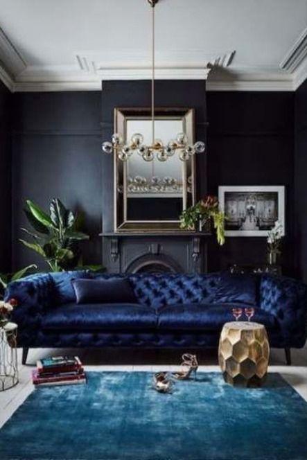 Navy Blue Living Room Decor Ideas In 2020 Dark Living Rooms Living Room Paint Luxury Living Room