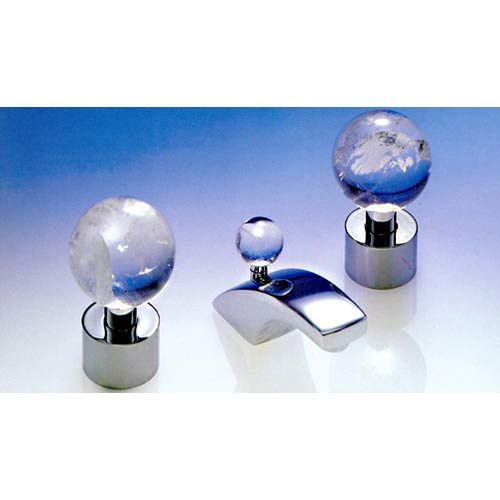 Paul Decorative Products Rock Crystal Polished Chrome Widespread ...