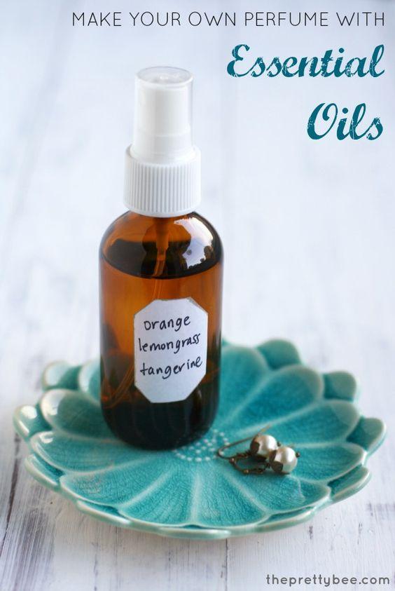 Faça seu próprio perfume impulsionar humor com óleos essenciais.