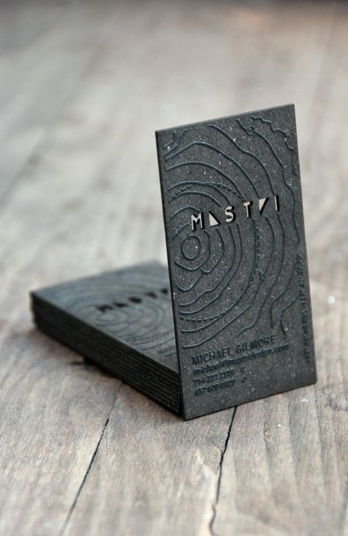 132 best laser business cards images on pinterest business cards thick paper card laser etched in custom relief design with cut outs unique business card for michael gilmore from mastri design reheart Images