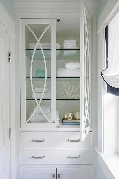 Glass Shelves At Home Depot Glassshelfkit Bathroom Design Linen Cabinet Glass Cabinet Doors