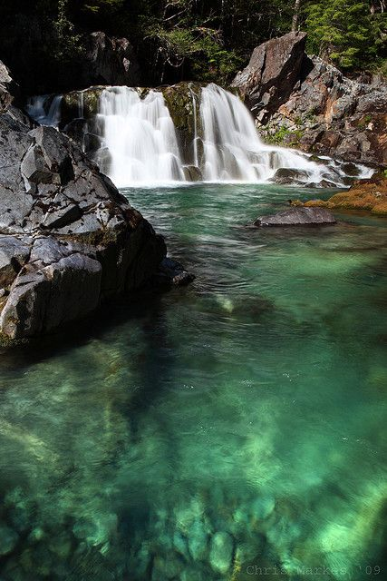 One of my favorite places in Oregon...Sawmill Falls, Opal Creek, outside of Salem. Amazing swimming on really hot days! Wilderness Campsites.