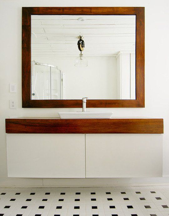 Ikea Kitchen Islands Converted Into Bathroom Vanities For Sinks. Love The  Wood, And Sink Choices. I Also Like The Tile Used As The Backsplash |  Pinterest ...