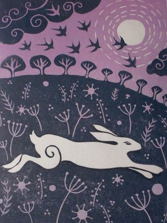 Leaping hare by Lucy Palmer