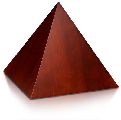 Bogati Urns - Birch Wood Pyramid Cremation Urn with Cherry Finish - Medium…