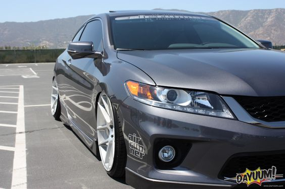 Honda accord coupe slammed 2013