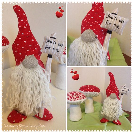 Gnome valentines day gnome gift christmas ornaments and for Gnome 3 decoration fenetre