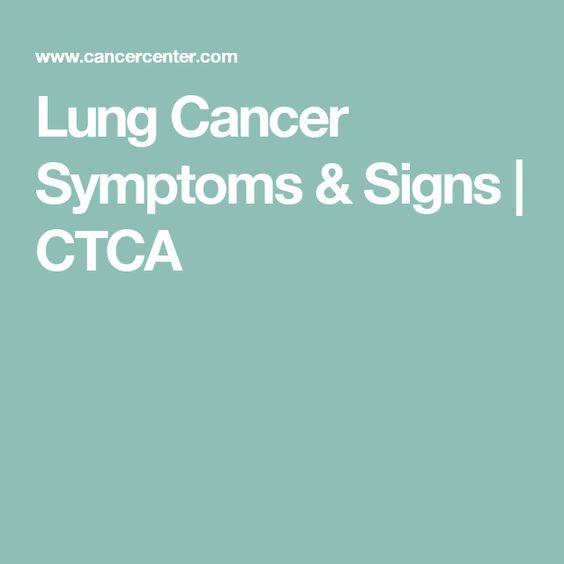 Lung Cancer Symptoms & Signs | CTCA