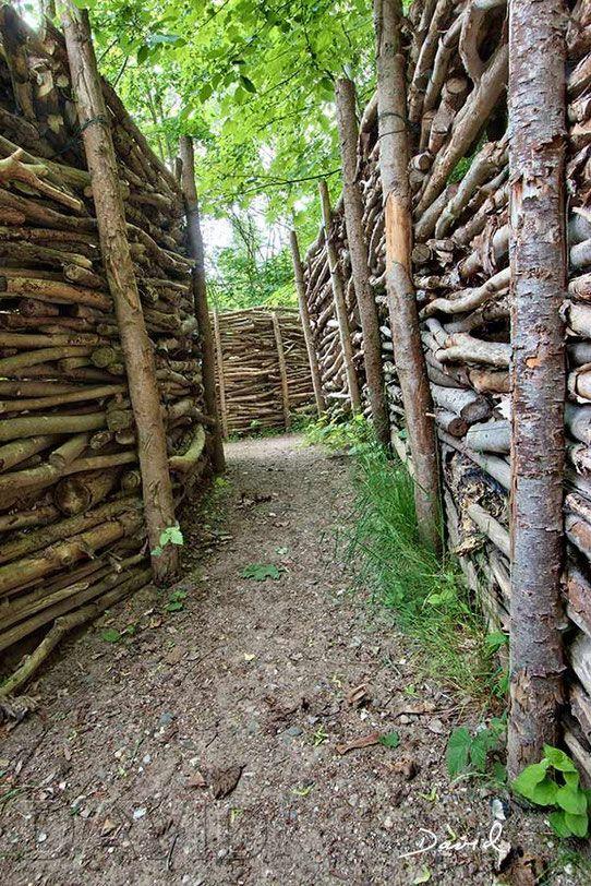 Gefullter Totholzzaun Nach Art Des Hauses Wildbienenschutz Im Naturgarten Naturzaun Garten Naturgarten