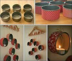 Ideas para decorar tu hogar, solo con latas, celo decorativo de papel y pegamento. Usa tu creatividad y decora las latas como más te guste.