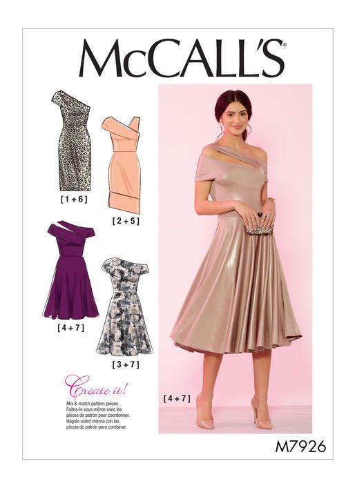 M7926 Misses And Women S Special Occasion Dresses Sewing