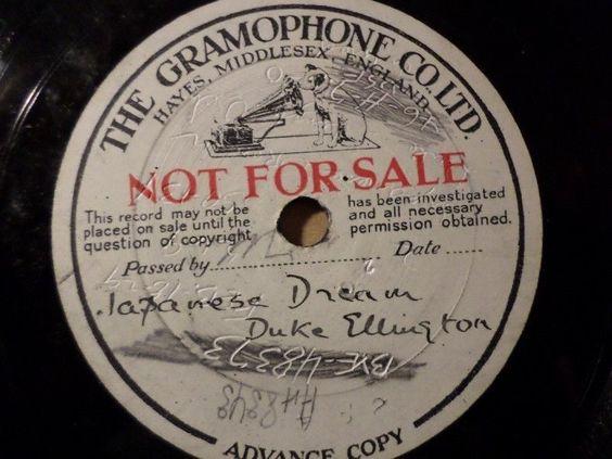 DUKE ELLINGTON  Japanese Dream  18. Febr. 1929 Gramophone sample test record #78rpm #Schellackplatte