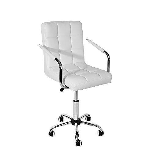 Misssnower Swivel Computer Desk Chair, White Computer Chairs Uk