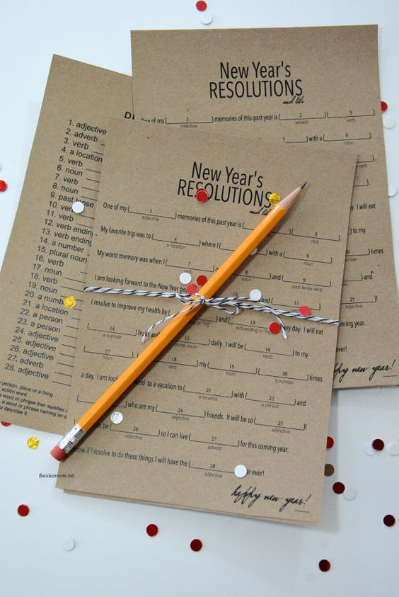 New Year's Eve   Play this fun New Year's Eve Game based on the Mad Libs games you played growing up. Free Printables provided for you New Year's Eve fun!