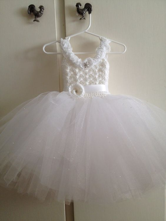 Flower girl tutu dress flower girl dress with corset style by Qt2t