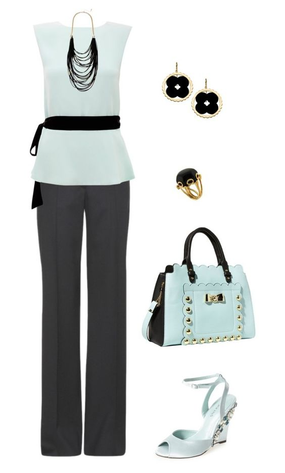 """""""Sin título #1549"""" by marisol-menahem ❤ liked on Polyvore featuring STELLA McCARTNEY, Raoul, Menbur, Betsey Johnson, Sparkling Sage, Valentin Magro and Asha by ADM"""