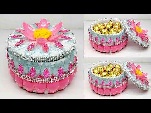 Ide Kreatif Tempat Permen Cantik Dari Sendok Plastik Candy