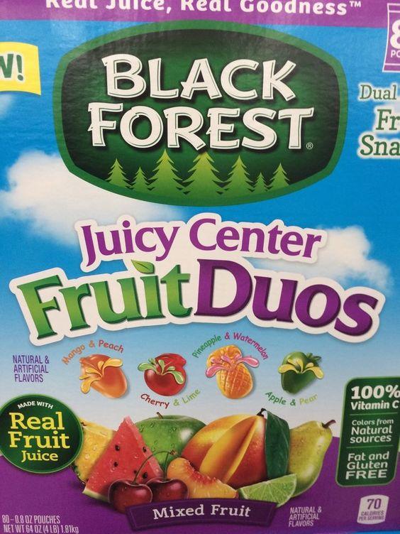 80 Pouches Black Forest Mixed Fruit Real Fruit Juice Burst Centers Fruit Duos #BlackForest