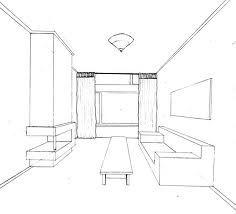 Perspectief tekenen kamer tekenen ruimte en perspectief for Cursus 3d tekenen interieur