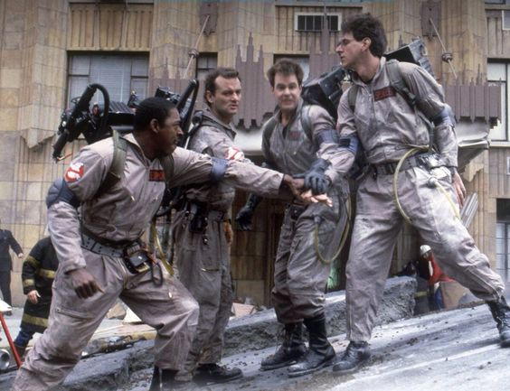 Ernie Hudson, Bill Murray, Dan Aykroyd & Harold Ramis in #Ghostbusters (1984)