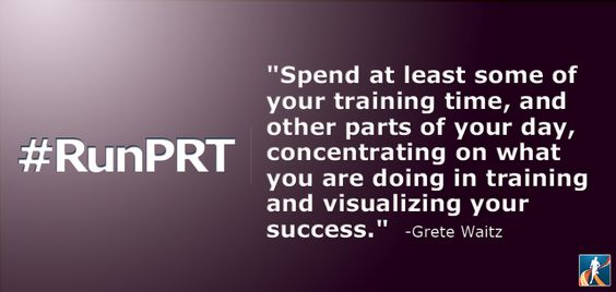 "Spend at least some of your training time, and other parts of your day, concentrating on what you are doing in training and visualizing your success."" Grete Waitz #quotes #runningquotes"
