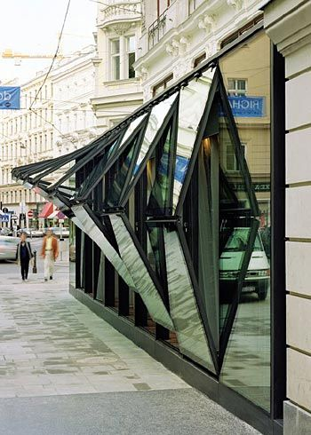 The Glass Facade Of Fabios Restaurant In Vienna A Very