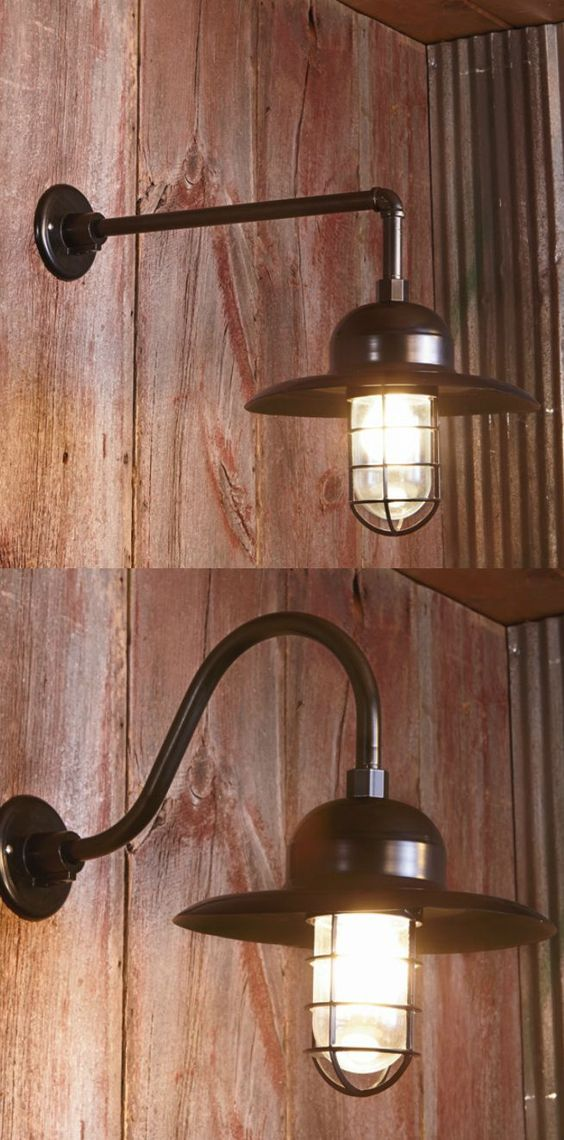Wall Mounted Accent Lights : Add rustic charm to your accent walls with barn light wall sconces.The multi-mount options are ...