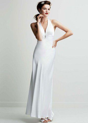 Charmeuse Wedding Dress with Halter Neckline White, 8 David's Bridal http://www.amazon.com/dp/B006UDMNK6/ref=cm_sw_r_pi_dp_pfIOtb1FBTP9TWBH