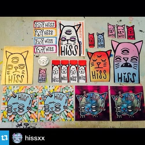 StickerSocialClub.com @hissxx ・・・Some #stickers for the  @stickersocialclub blind packs. Available at #StickerSocialClub .com  #hiss #stickerpack #slaps #slapups