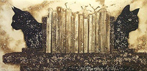 """Literary Cats   Literary Cats """"Titles for the company.""""  http://www.finelifeart.com/literary-cats/"""