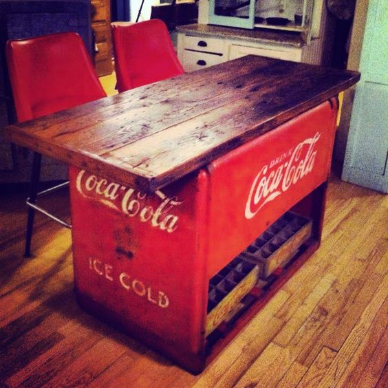 Coca Cola Kitchen Curtains: I Want This.....Coca-Cola Island. Oh My Gosh Need This