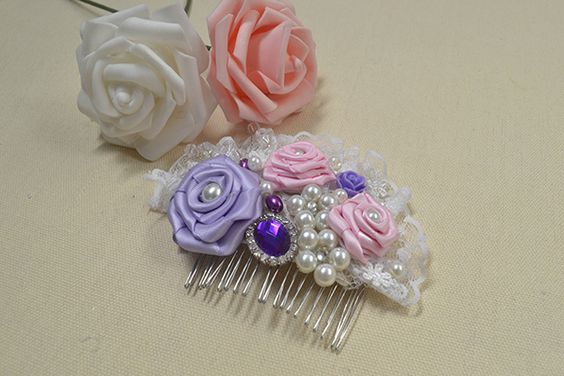 How to Make Cute Flowers Beaded Hair Accessories for Little Girls