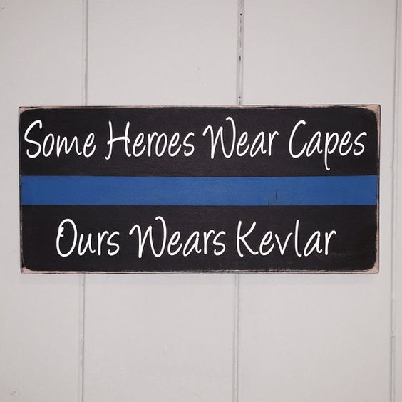 Thin Blue Line Police Gift Some Heroes Wear by SimplyFontastic