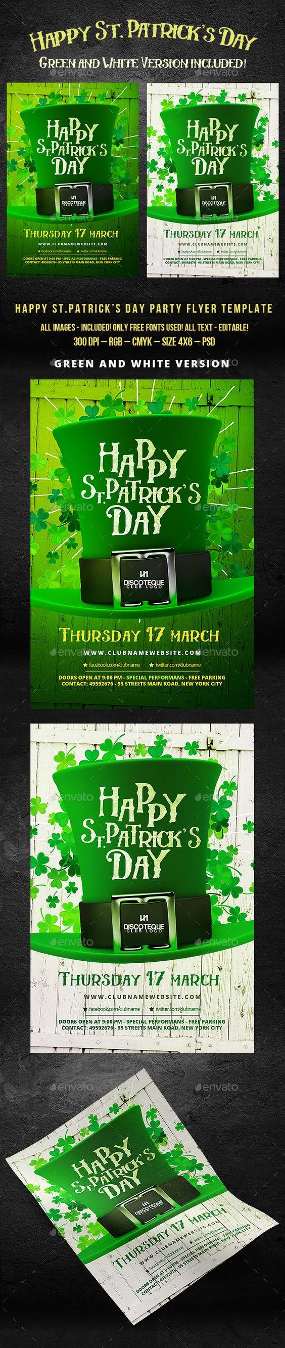 St. Patrick's Day Flyer #clover #ireland #irish #Irishparty #patricks #patricksday #SaintPatricksDay #St.Patrick'sDayFlyer Download it here: http://graphicriver.net/item/st-patricks-day-flyer/15356202?ref=